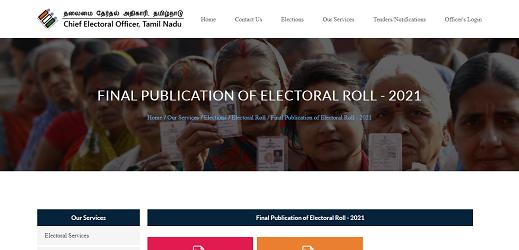 Tamil Nadu New Voter List